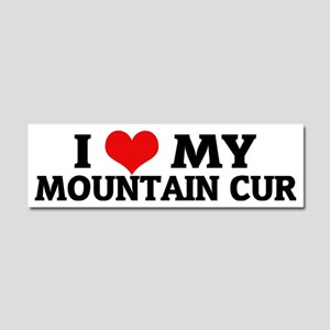 MOUNTAIN CUR Car Magnet 10 x 3