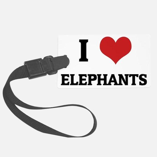 ELEPHANTS Luggage Tag