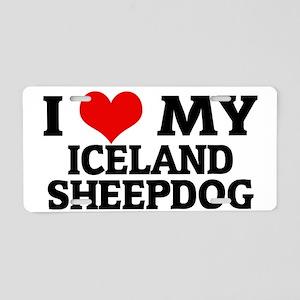 ICELAND SHEEPDOG Aluminum License Plate