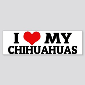 CHIHUAHUAS Sticker (Bumper)