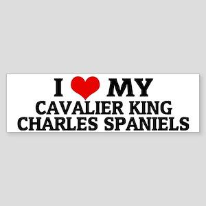 CAVALIER KING CHARLES SPANIELS Sticker (Bumper)