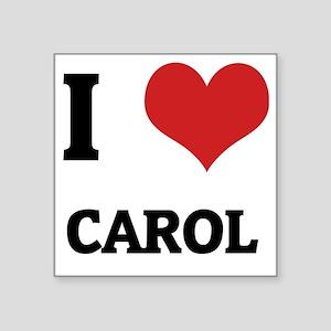"CAROL Square Sticker 3"" x 3"""