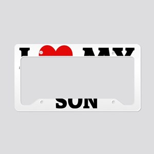MY MILITARY SON License Plate Holder