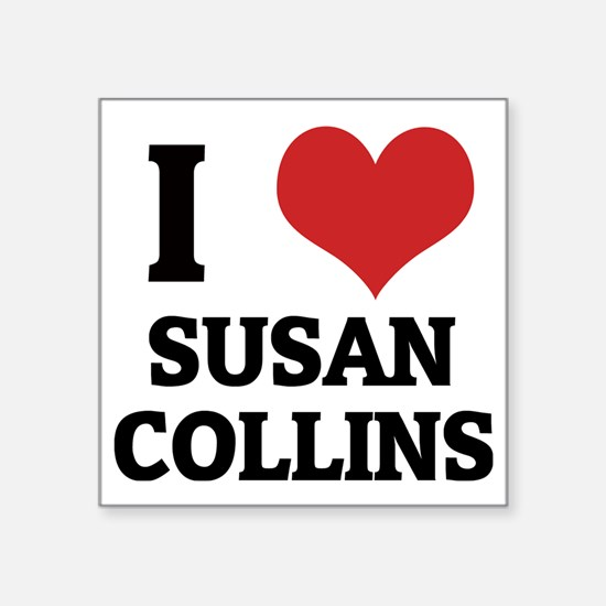 "SUSAN COLLINS Square Sticker 3"" x 3"""