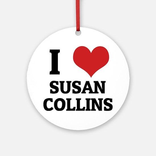 SUSAN COLLINS Round Ornament
