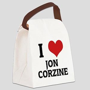 JON CORZINE Canvas Lunch Bag