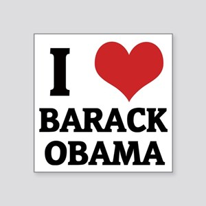 "BARACK OBAMA Square Sticker 3"" x 3"""