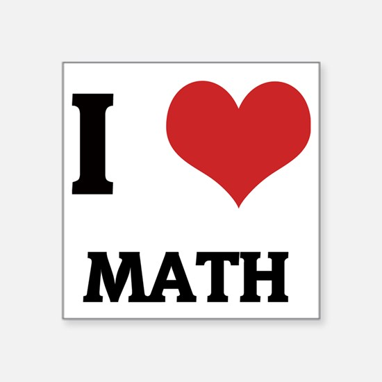 "MATH Square Sticker 3"" x 3"""