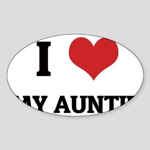 MY AUNTIE Sticker (Oval)