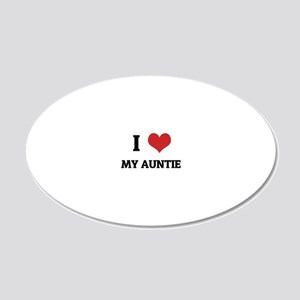 MY AUNTIE 20x12 Oval Wall Decal