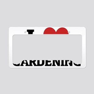 GARDENING License Plate Holder