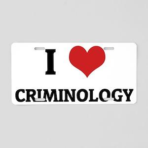 CRIMINOLOGY Aluminum License Plate