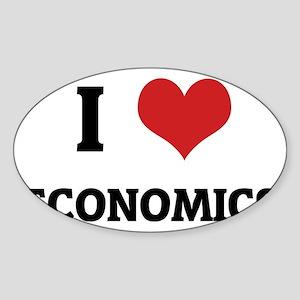 ECONOMICS Sticker (Oval)
