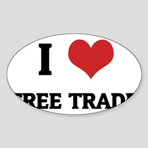FREE TRADE Sticker (Oval)
