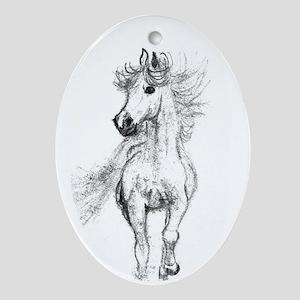 Pony Oval Ornament