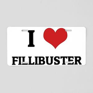 FILLIBUSTER Aluminum License Plate