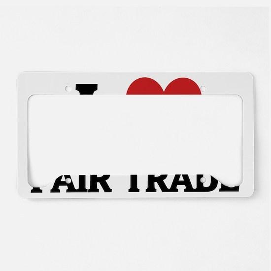 FAIR TRADE License Plate Holder