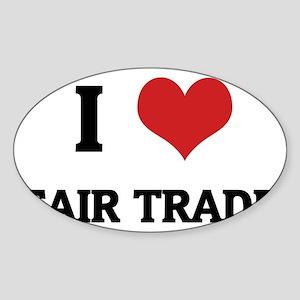 FAIR TRADE Sticker (Oval)