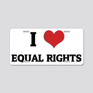 EQUAL RIGHTS1 Aluminum License Plate
