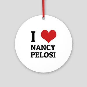 NANCY PELOSI Round Ornament