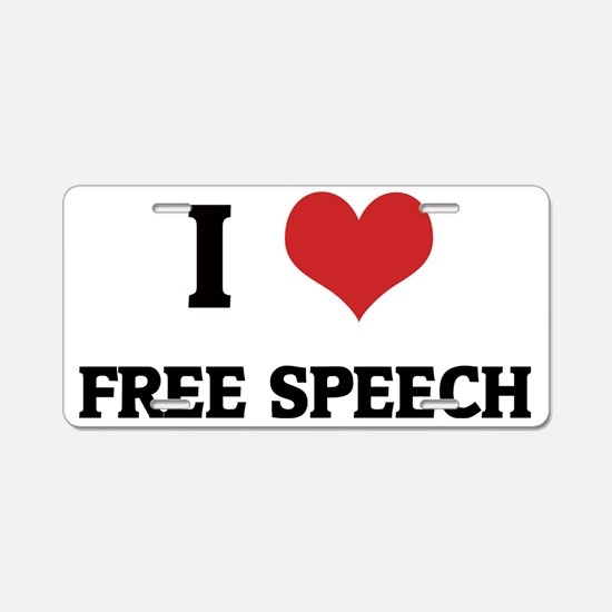 FREE SPEECH Aluminum License Plate