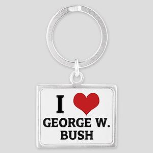 GEORGE W.-BUSH Landscape Keychain