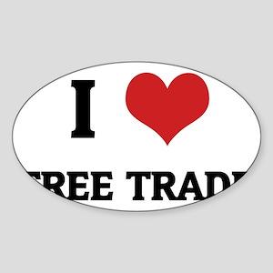 FREE TRADE1 Sticker (Oval)