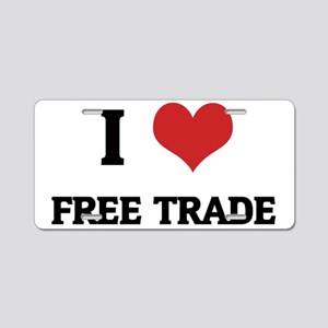 FREE TRADE1 Aluminum License Plate