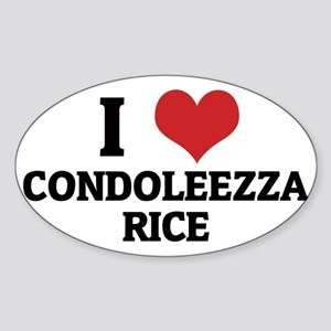 CONDOLEEZZA RICE Sticker (Oval)