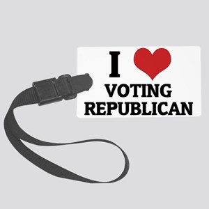 VOTING REPUBLICAN Large Luggage Tag