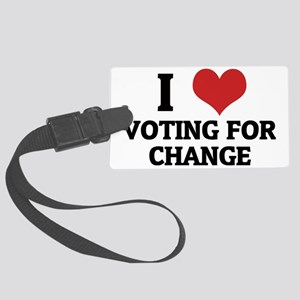 VOTING FOR CHANGE Large Luggage Tag