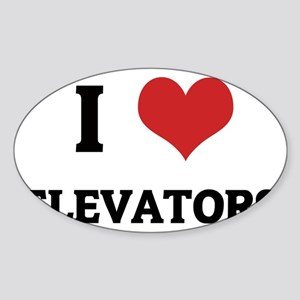 ELEVATORS Sticker (Oval)