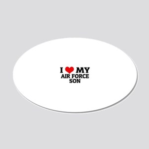 MY AIR FORCE SON 20x12 Oval Wall Decal