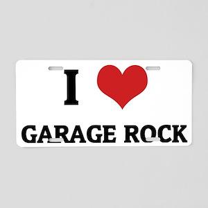GARAGE ROCK Aluminum License Plate