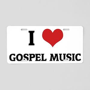 GOSPEL MUSIC Aluminum License Plate