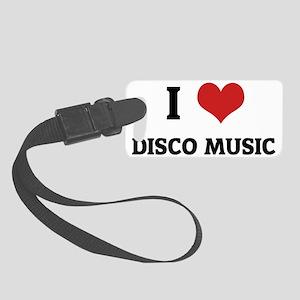 DISCO MUSIC Small Luggage Tag