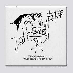 Whinny n Wine Salt Block Cartoon for horse and wi
