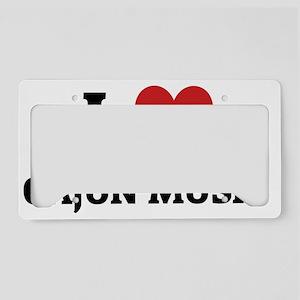 CAJUN MUSIC License Plate Holder