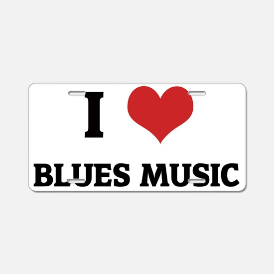 BLUES MUSIC Aluminum License Plate