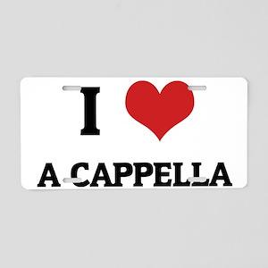 A CAPPELLA Aluminum License Plate