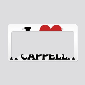 A CAPPELLA License Plate Holder