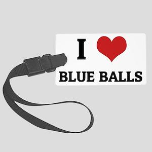 BLUE BALLS Large Luggage Tag
