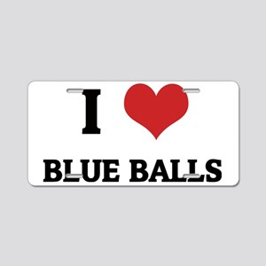 BLUE BALLS Aluminum License Plate