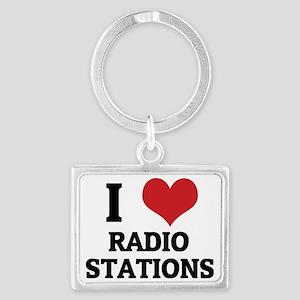 RADIO STATIONS Landscape Keychain