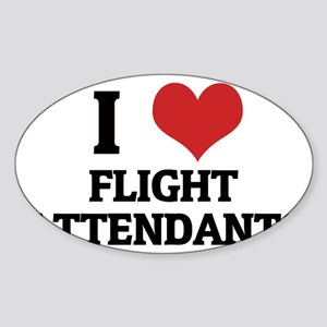 FLIGHT ATTENDANTS__ Sticker (Oval)