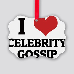 CELEBRITY GOSSIP Picture Ornament