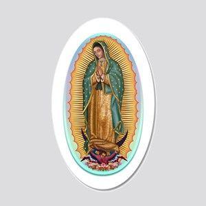 Virgin Guadalupe 20x12 Oval Wall Decal