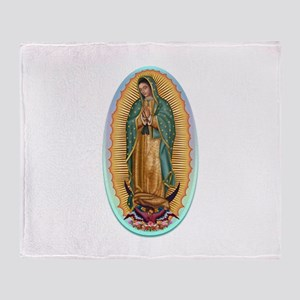 Virgin Guadalupe Throw Blanket