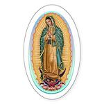 Virgin Guadalupe Sticker (Oval)