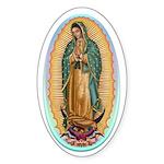 Virgin Guadalupe Sticker (Oval 10 pk)